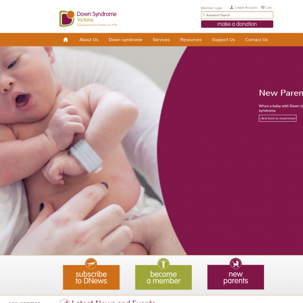 Down Syndrome Victoria Website