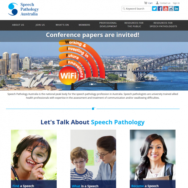 Speech Pathology Australia Website
