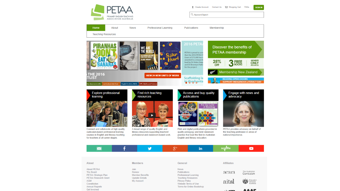 Primary English Teaching Association Australia Website